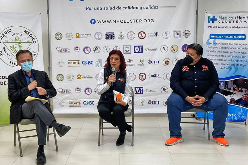 Reunión con candidatos por el Partido de Baja California, Kathia Bustillos Iturralde, candidata a la Alcadía y Oscar Rubio, Diputado por el distrito 8.
