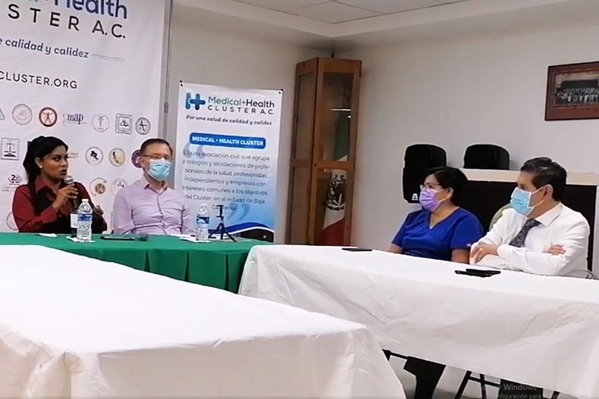 Reunión con candidata a la Alcadía de Tijuana, Montserrat Caballero Ramírez.